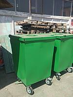Контейнеры мусорные с крышкой + колеса 0,7 м.куб. (2мм), доставка по Украине