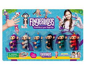 Обезьянки Fingerlings 10см, 6шт на планшете