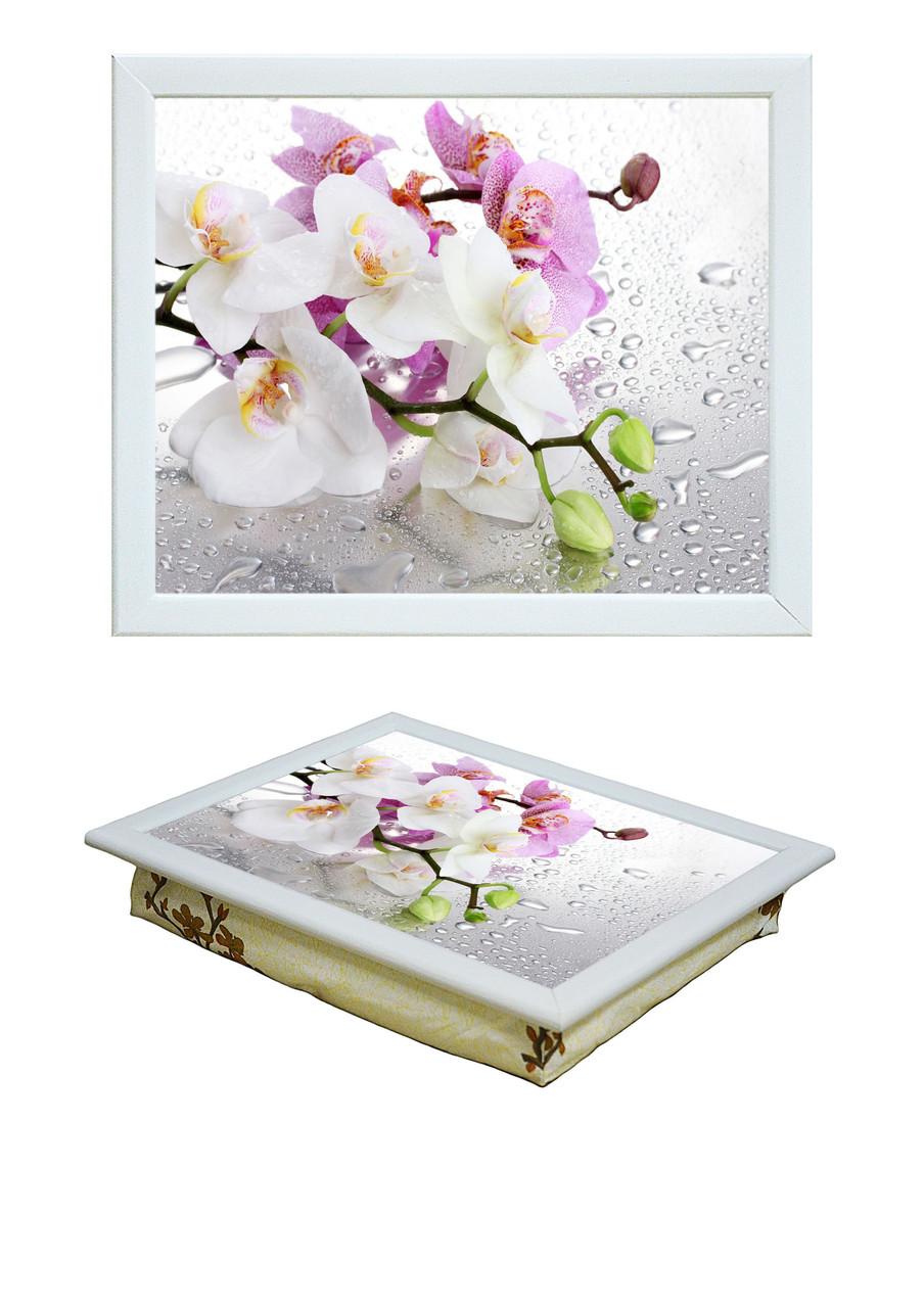 Поднос с подушкой Орхидея