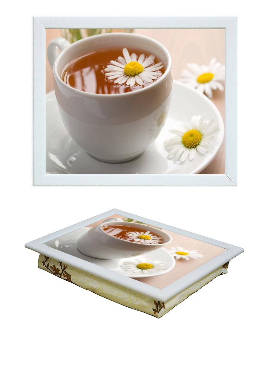 Поднос с подушкой Ромашковый чай