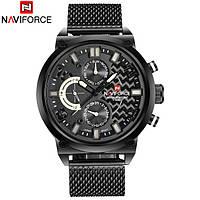 Спортивные мужские часы NAVIFORCE BRUTTO BLACK