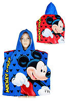Полотенце-пончо для мальчиков оптом, Disney, 55*110 см,  № MIC-H-PONCHO-74