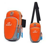 Спортивная сумка для телефона Tanluhu Running оранжевая, фото 1
