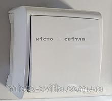 Выключатель 1-клавишный накладной белый Viko Vera Вера