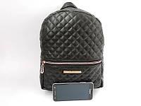 Стёганый женский рюкзак Michael Kors, стильный аксессуар, цвет черный