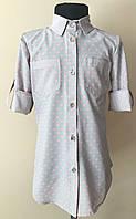 Блузка-рубашка в горошек для девочки 8-14 лет, фото 1