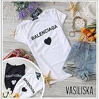 Женская стильная футболка с надписью (2 цвета)