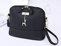 Качественная женская сумка с оленёнком, сумочка с оленем, цвет черный