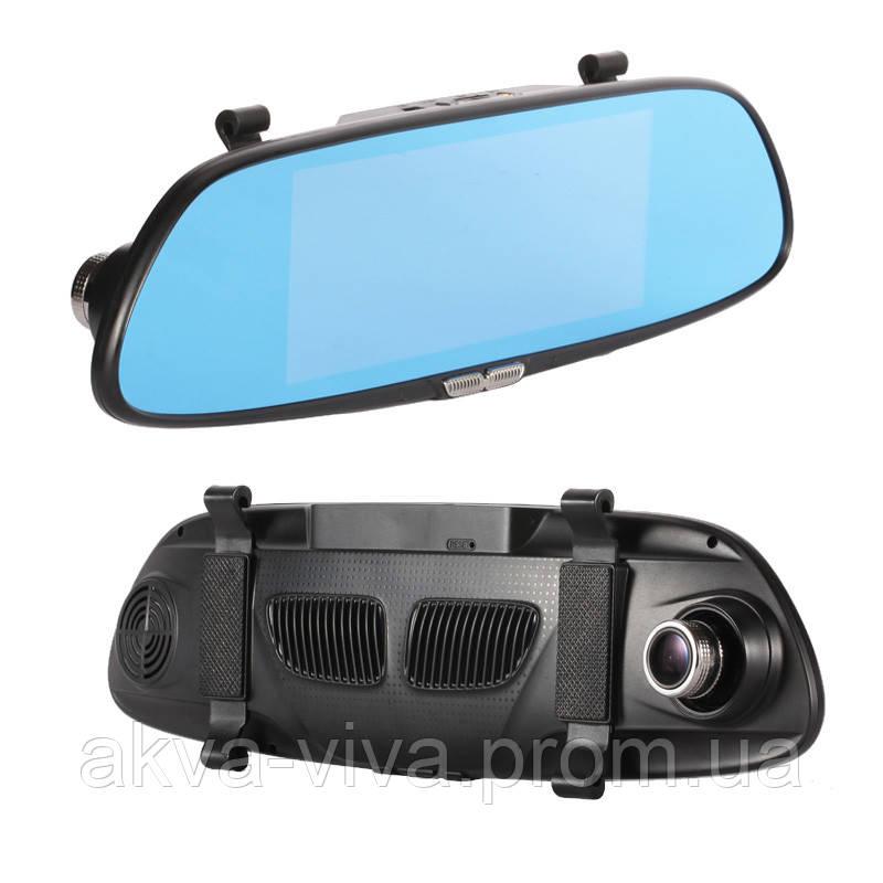 """Зеркало - видеорегистратор 7.0"""" дюймов с видеопарковкой и  камерой заднего вида. Модель ЕА101"""