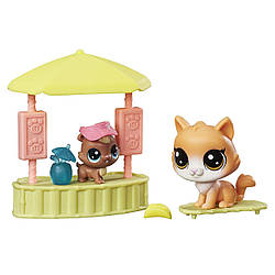 """Игровой набор Littlest Pet Shop чудесные приключения """"Бар"""" Tiki Treats"""