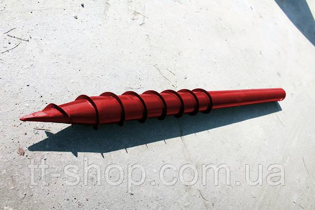 Свая многовитковая Ø 76 мм длинна 1,0 м, фото 2