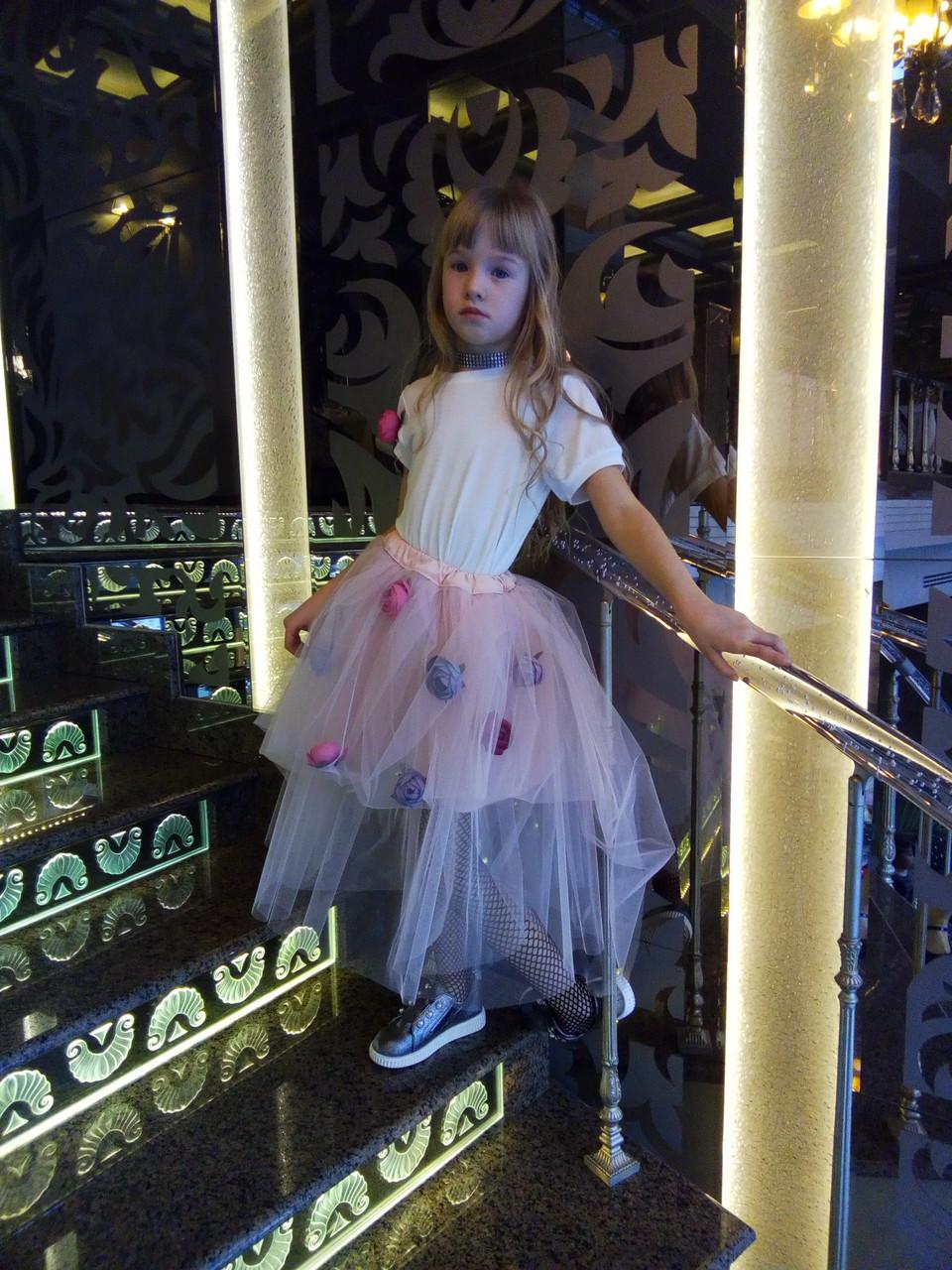 Платье-пион с фатиновой юбкой от дизайнера KKatrine