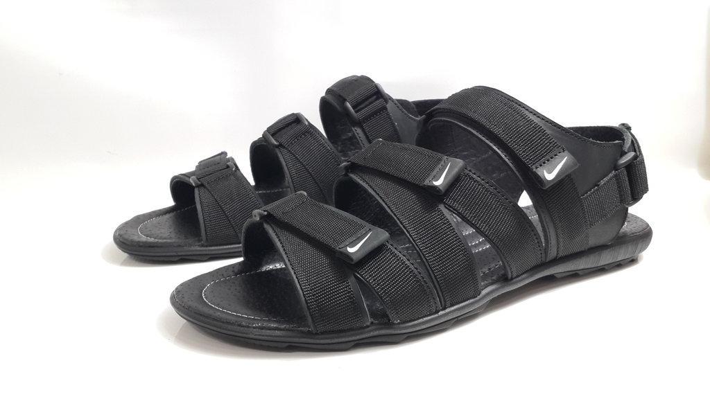 Кожаные мужские сандалии Nike KD-C-5 Черне/Синие