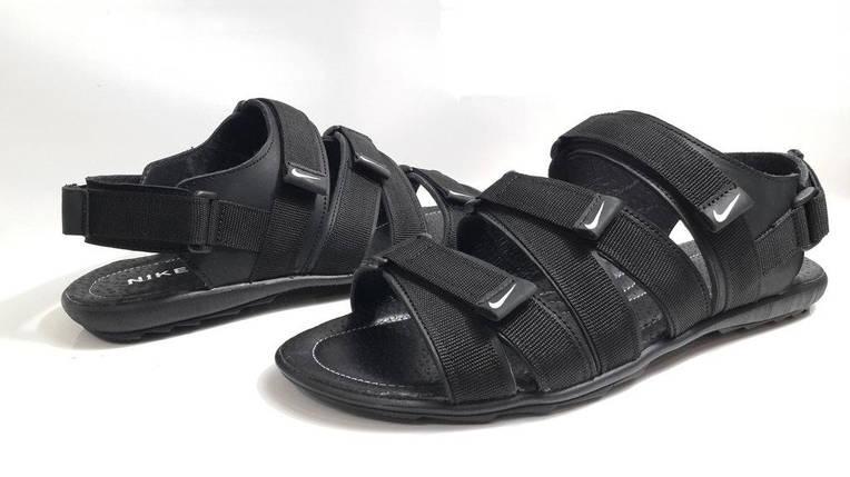Кожаные мужские сандалии Nike KD-C-5 Черне/Синие, фото 2