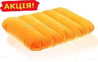 "Надувная подушка для путешествий ""INTEX"", цвет оранжевый, размер 43х28х9см"