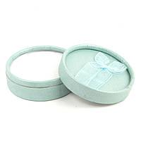Круглая коробочка для бижутерии мятная 8,5 х 3,5 см