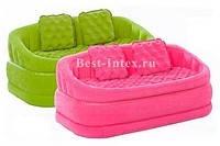 Надувной диван Intex 68573 Розовый Cafe Loveseat , фото 2