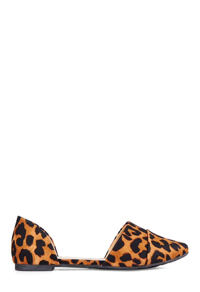 Балетки женские JustFab Womens Nurias Leopard