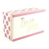 Розово-белая прямоугольная коробка I'm So Fancy 28x18x11.5 см
