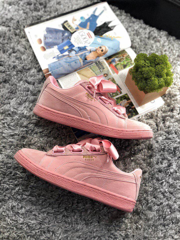 new style d0252 638d6 Женские кроссовки Puma Suede Heart Prism Pink: продажа, цена в Киеве.  кроссовки, кеды повседневные от