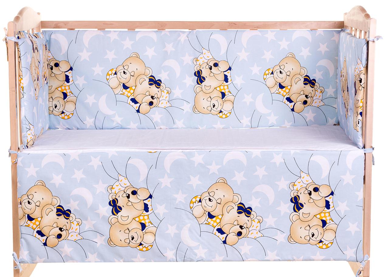 quatro Защита в кроватку Qvatro Gold ZG-02 голубой (мишки спят) 621179