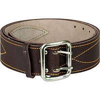 Ремень офицерский кожаный, коричневый, никелированная пряжка, размер №2 (115 см)