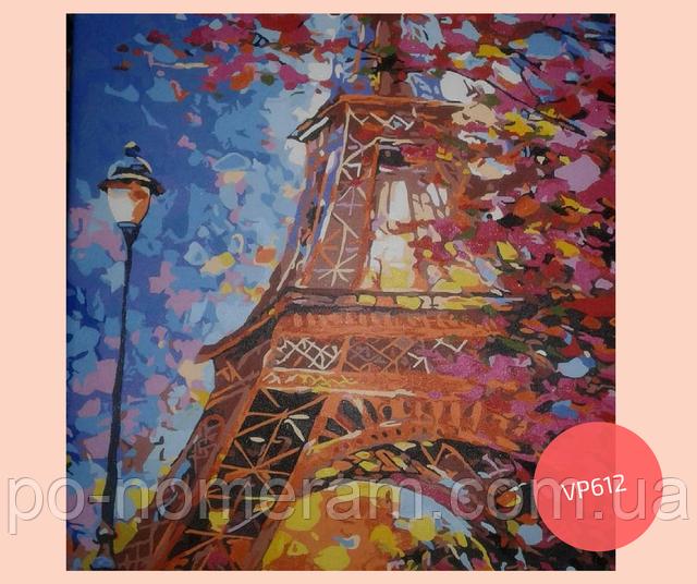 нарисованная картина по номерам краски парижа