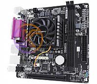 Мат.плата с процессором Gigabyte GA-E3000N, AMD E2-3000 (2x1.65GHz), 2xDDR3, Radeon HD 8280, 2xSATA3, 1xPCI, ALC887, GLan, 2xUSB3.1/8xUSB2.0,