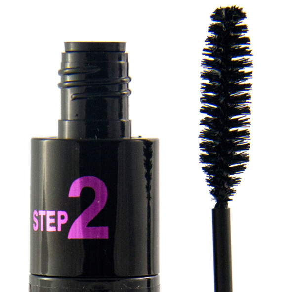 Туш для очей чорна Volumizer 2 in 1, Під Буржуа 2 кроку, якісна косметика оптом упаковкою і в роздріб по всій Україні інтернет-магазин