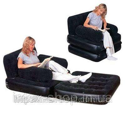 Надувное кресло-трансформер 2в1 Bestway 67277, фото 2