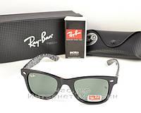 Солнцезащитные очки Ray Ban Wayfarer RB 2140 Стекло унисекс рей бен мужские  и женские реплика 46fef481d6403