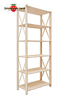 Стеллаж деревянный Прованс-6 Элегант (ФСФ берёза, 1910х780х400мм)