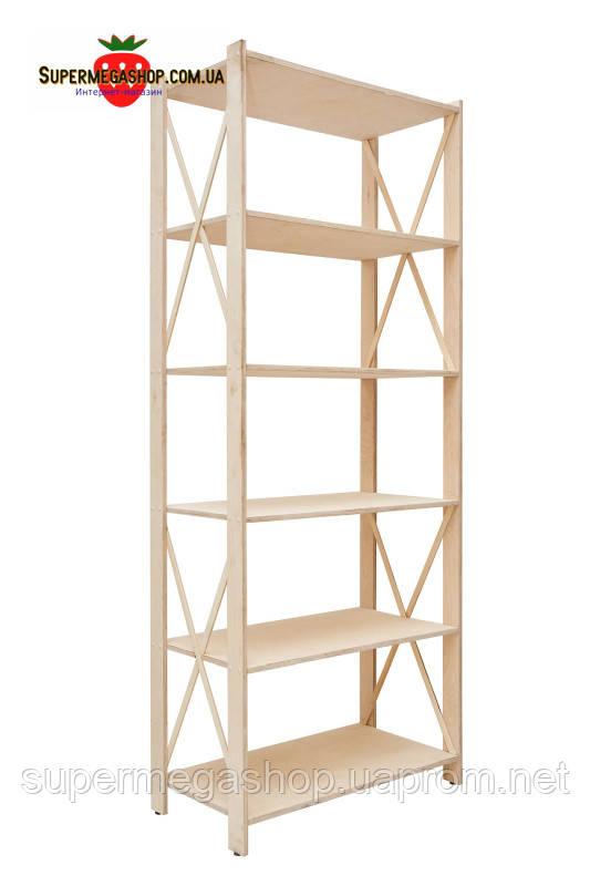 стеллаж деревянный прованс 6 элегант фсф берёза 1910х780х400мм купить по лучшей цене в киеве от компании Supermegashopcomua онлайн магазин