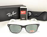 Солнцезащитные очки Ray Ban Wayfarer RB 2140 Стекло унисекс рей бен мужские и женские реплика, фото 6