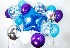 Воздушные шарики, резиновые и фольгированные