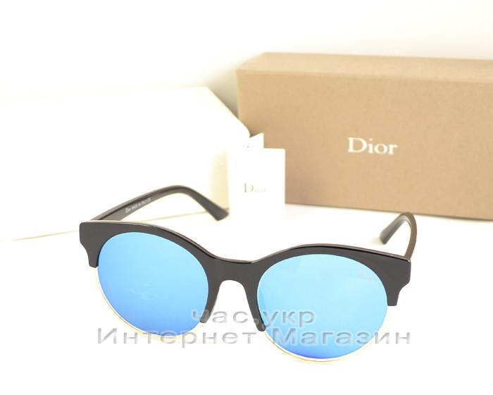efe3ba945faf Женские солнцезащитные очки Christian Dior голубые зеркальные Кристиан Диор  утонченность реплика - Ваш интернет магазин №