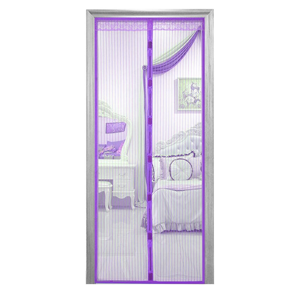 Дверная антимоскитная сетка на магнитах фиолетовая