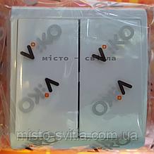 Выключатель 2-клавишный накладной белый Viko Vera Вера