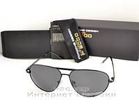Мужские солнцезащитные очки Porsche Design Авиатор Aviator черные для водителя поляризация порше реплика, фото 1