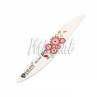Пилка для ногтей 180/240 Salon цветы