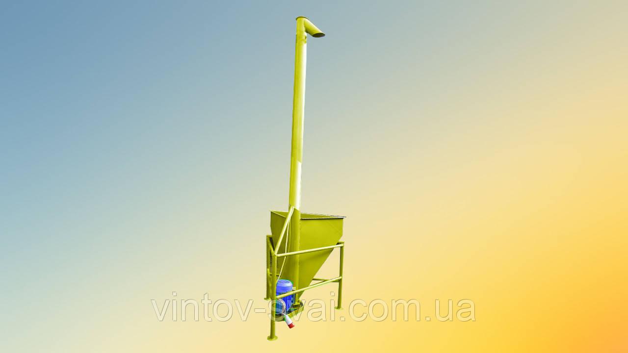 Вертикальный шнековый погрузчик 133 х 7000 мм.