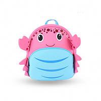 Рюкзак Мисс Краб Розовый / Рюкзак для дошкольника / Рюкзак детский дошкольный