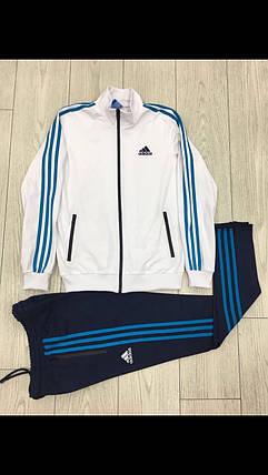 Мужской спортивный костюм Adidas.Белый/Черный.KD-1503, фото 2