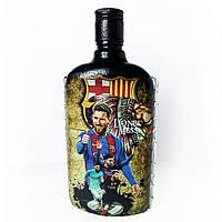 Декор бутылки Футбольному фанату ФК Барселона Месси Лионель Подарок мужчине на день рождения