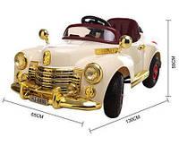 Детский электромобиль Ретро Bentley 8888 на р/у, резиновые колеса, бежевый