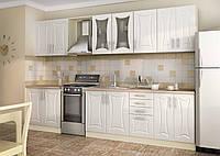 Кухня под заказ классика ванильного цвета изготовление, вариант-033, фото 1