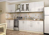 Кухня белая-ванильного цвета под заказ вариант-033