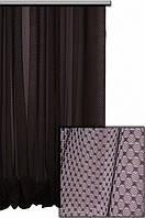 Тюль арника, цвет венге
