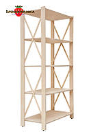 Стеллаж деревянный Прованс-5 Элегант (ФСФ берёза, 1550х780х400мм)