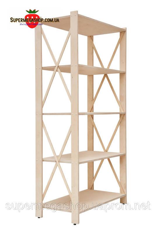 стеллаж деревянный прованс 5 элегант фсф берёза 1550х780х400мм купить по лучшей цене в киеве от компании Supermegashopcomua онлайн магазин